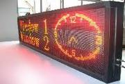 Led displays in different colours and size