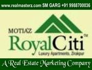 3BHK FLAT IN MOTIAZ ROYAL CITI,  AMBALA ROAD , ZIRAKPUR BY real masterz