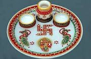 best marble puja thali