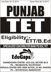 TET Coaching in Chandigarh