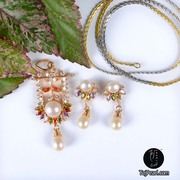 Pendant sets studded with Pure Pearls from TajPearl.com