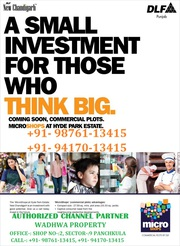 DLF Micro Shops Commercial Plots In DLF Mullanpur