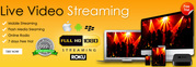 Live Streaming Services,  Webcasting Services,  Streaming Reseller,  Vide