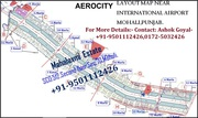 Corner || Park Facing |AERO CITY | 125, -500 Sq yd.Contact :-9501112426