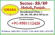 88-89 Plots for sale in mohali,  Gmada Approved Call 9501112426