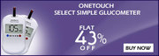 Flat 43% Off on OneTouch SelectSimple Glucometer at Healthgenie