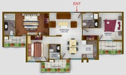 3 bhk Luxurious Flat For Sale in Sunny Heights Sec-125