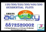 125 gajj. Aerocity residential plots for resale in mohali