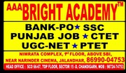 Bright Academy Bank PO Coaching Institute Centre Chandigarh