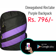 Devagabond Rectabe Purple Backpacks sale - DEVARECT000006150167