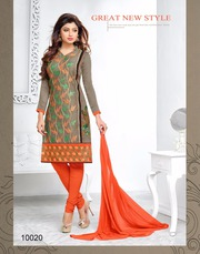 Bul Bul Vol-7 designer chanderi cotton dress at textileexport.in