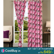 BUY1 AND GET 1 BEAUTIFUL POLYESTER DOOR CURTAINS FROM COOLBUY.IN