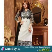 Beautiful Designer Long Salwar Kameez at 699/- in coolbuy.in