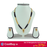 Womens Trendz Set Of Mangalsutra And Earrings from coolbuy
