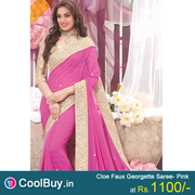 Partywear Faux Georgette Saree from coolbuy.in
