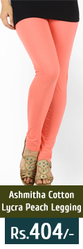 Cotton Lycra Peach Color Legging from coolbuy.in