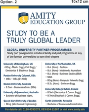 Amity University announces International Programmes