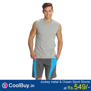 Jockey Mens Navy Knit Sport Shorts Style from coolbuy.in