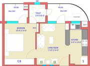 1 bhk flat with gated security is available in sector-125, mohali