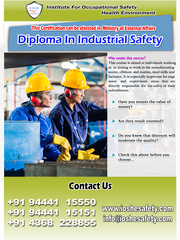 Diploma In Industrial Safety Through E-Learning