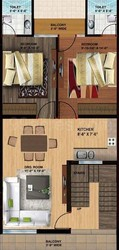 2 BHK Flat For Sale In At Dhakoli In Highway Home