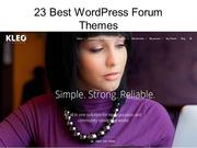 Best Wordpress Forum Themes