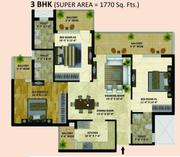 1770 Sq Ft Flat in Western Tower Sec 126 Mohali