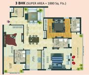 1880 Sq Ft Mohali Sec 126 Western Tower
