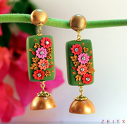 Polymer Clay Earrings(HMWJ1758)