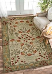 Rugsville Adeline Beige Green Wool Rug 10500