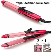 NOVA Nhc-2009 2 In 1 Hair Straightener & Curler at Affordable Price.