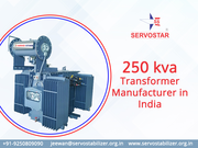 250kva Transformer Manufacturer Company in India