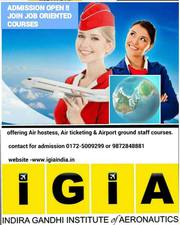 Air hostess training in chandigarh with 100% job placement. Join IGIA