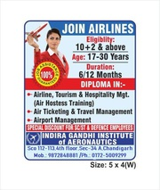 Become an Air hostess with 100% job placement in Chandigarh