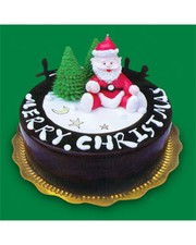 SEND CHRISTMAS DESIGN CAKES IN CHANDIGARH by Gaganfitness
