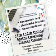 12th Class Maths Home and Online Tutor Chandigarh